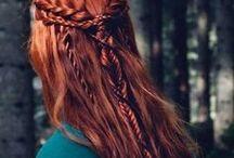 Braided hair / Medieval, celtic, viking, nordic braided hairstyles