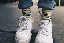 Джинсы и носки