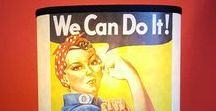 Handmade Motivational Messages Lamps / Lampshade Lamps Old Poster Motivational poster war poster old poster handmade keep calm we can do it