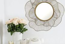 Decor Accents & Accessories / Wall accents, wall mirrors, accent pillows, geometric accents, pattern accents, area rugs, blue accents, red accents, neutral accents, brass hardware, wall paper, ceramic accents, table top accents, wall ideas, wall decor ideas, accent lighting, decor inspiration, interior design, design, home decor