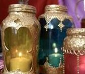 Jar Crafts & Decor / Mason jars, do-it-yourself, mason jar organization, mason jar lighting, mason jar candle lights