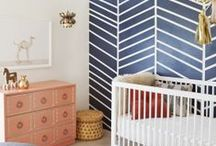 Munchkins / Elegant and sophisticated babies and kids bedrooms by top designer. Great color combinations, colorful accents, geometric designs, vintage accents, area rugs, lighting, art work, paint colors, nook ideas.