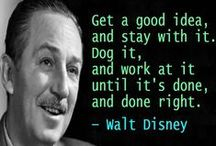 The Quotable Walt Disney / Walt Disney, the man behind so many wonderful TV shows, cartoons, and movies. Very quotable. / by John Kremer / Pinterest Expert
