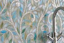 Tile...oh tile. / My favorite tile.  glass tiles, mosaic tile, backsplashes, moroccan