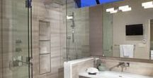 Northridge Master Bathroom / A master bathroom remodel with serene yet contemporary finishes.