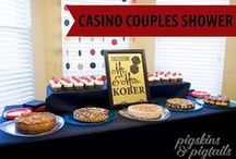 Shower : Poker Night / Casino / Poker Couples Wedding Shower party theme with craps, black jack games and prizes for most chips at the end of the night