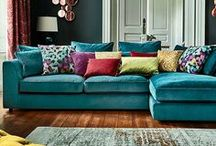 Luxurious cushions / Sometimes you need a bit of colour, velvet and silk to add some warmth to a room.  What better way to do it than with cushions. Cushions are an everydoay part of home decor so I'm hoping this board will provide you with some ideas and inspiration