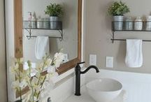 Bathroom Lighting / Bathroom lighting is tricky as you require both task and overhead lighting. Browse our pins of great lighting ideas that accomplish both in great style!