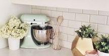 My kind of kitchen / Kitchen decor ideas.  Modern, clean, minimalist, and farmhouse kitchen ideas.