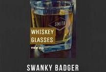 WHISKEY GLASSES / WHISKEY GLASSES Personalized Whiskey Glasses are the perfect gift for any aspiring gentleman and the perfect accompaniment to one of our Personalized Whiskey Decanters.