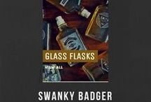 GLASS FLASKS / Groomsmen Gift, Personalized Hip Flasks.  These engraved whiskey flasks are the perfect groomsmen gift. Personalized with the name of your choice, this custom hip flask will be displayed with pride for years to come. It's also a great gift for, boyfriends, husbands and fathers alike.