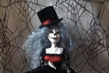 OOAK Art Dolls I have made. / My Art Dolls created from Polymer clay on a wire armature.