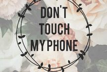 Don't touch my phone / Stay AWAY from my phone!! ❤️