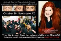 Alexis Vogel Work Shop Seminars/Demos-Live / In her always sold out workshops, Alexis will share with you her many years of experience, discuss working with celebrity clients, and demonstrate her techniques to create some of the most beautiful makeup in Hollywood.