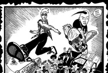 Skeightfast Dyephun / Skeightfast Dyephun takes you on a savage trip with Boardlord and Spitface - 2 skaters who defend their local scene against jocks, cops and ninjas. An amazing skate comic by Victor Giannini