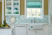 Coastal Kitchen Design / Design concepts for coastal kitchens in beach homes.