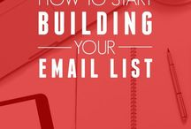Build Email List / The toughest thing to do for many internet marketers is to build an email list. This Pinterest board has plenty of tips that will help you build an email list the right way