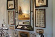 Beautiful Interiors - Mirrors, Frames & Arrangement / by Carol Farrow