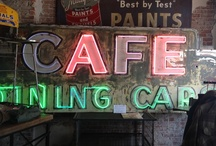 Dining Car Sign History / This sign was purchased to display inside of Wilma & Frieda's Cafe. We are very excited about it's history.  It came from an interesting cafe from 1947 off of Hwy 101.