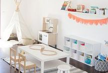 PLAYROOM / Playroom decor and interiors, fun ideas for styling a room full of toys, kids areas, play spaces and create be corners. How to make a playrooms on work in your house - and be safe, fun and tidy too!