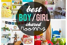 UNISEX BEDROOMS / Bedroom themes, ideas and buys for toddlers and kids that suit both boys and girls or idea for shared bedrooms/ nurseries. Sharing bedroom spaces and creating a decor that's suite boys and girls.