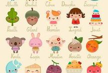 Kawaii Doodles / A collection of kawaii doodles. Perfect if you're looking fro some drawing inspiration, step-by-step simple doodles, funny animals and vegetables. Kawaii face expressions.