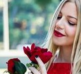 Happy Valentine's Day! / Keep it simple and feminine with a little red dress! Ooh, love! It's something we try to celebrate each and every day, but once a year it takes center stage amidst a flurry of candy hearts, confetti-laden cards, and red roses.