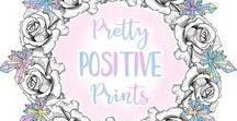 A Portfolio of My Work - Etsy Showcase / A showcase of my work on Etsy, I create beautiful digital prints intended to brighten up your day by containing inspirational and positive quotes. I love pastels, gold glitter, flowers, unicorns, roses, crystals and peonies. I put all of this into art work for nurseries and home decoration. I also make colouring pages and colouring books for positive art therapy.