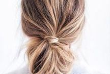 Minimalist hair & make-up / Minimalist, simple hairstyle & make-up ideas | Short hairstyles | Stylish braids | Long hair do's | Hair clips | Buns | Messy hair