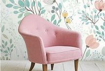 Chair pairs / Pairing chairs with the perfect artwork - whether they match perfectly or clash in a satisfying way - is a good way to start the process of designing a room. These are the details that set the tone of a space.