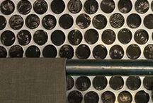 Glass & Mosaic / #glass #mosaics #PennyTiles #wall #decor #colour #fresh #new #stile #shiny #decorative #