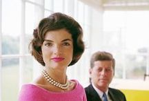 Jackie O / Pearls are always appropriate. Jacqueline Kennedy Onassis
