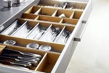 Kitchen - Cabinet & Drawer Organization / A selection of amazing doors and drawers - perfect kitchen organization inspiration