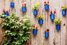DIY Your Garden / Celebrate creativity of recycling in the garden. Create something new and beautiful for your gardening spaces out of used material.