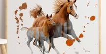 Animal Art Prints / Animal Art Prints, Animal Wall Art, Horse Print, Buffalo Print, Parrot Print, Animal Prints