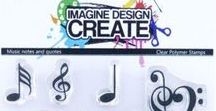 MUSIC NOTES & QUOTES - Stamp Inspiration / bringing our Imagine Design Create stamp range to life