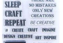 CREATIVE QUOTES - Stamp Inspiration / bringing our Imagine Design Create stamp range to life