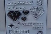 DIAMOND LOVE A6 stamps - inspiration