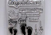 WELCOME BABY A6 stamps - inspiration