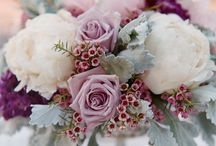 Wedding bouquets and centrepieces