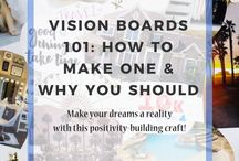 How To Create A Vision Board / One of the best ways to achieve your goals and dreams is by creating a vision board. Here are some tips and ideas on creating yours today!