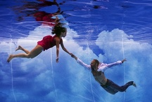 My photos / underwater woman in swimming pool and open water by Petr Kleiner and Pentax and Ikelite