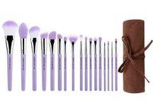 Purple Bambu / Professional #ecofriendly #makeup brush, All sustainable #bamboo handle, #Vegan soft #synthetic bristles, #Hypoallergenic bristles, 100% #crueltyfree / by Bdellium Tools