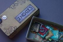 ATCs & Inchies & Tags! Oh my! / Ideas and inspiration for tiny pieces of art. #artisttradingcards #atcs #inchies #tags