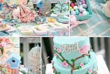 Cherry Blossom & Birds Birthday Party Ideas / Fun Cherry Blossom and Birds Birthday party ideas, including bird themed birthday cakes, cupcakes, bird themed treats, bird printables, decorations, party favors, and party activities.