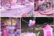 Sofia The First Party / Sofia The First Birthday Party: #PrincessParty #PrinceParty #Bouncehounce #DIY