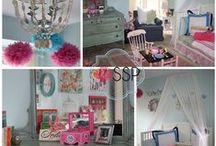 Big Girl Room / Big Girl Room || Sarah Sofia Productions #interiordesign #homedecor #bedroom #girlsroom #pink #blue #green #potterybarnkids
