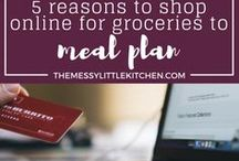 Meal Planning Resources / A board on meal planning, meal prep, food prep, meal lists, grocery planning, planning weekly meals- everything you need to get your family organized at the grocery store, cooking & into the kitchen! Includes resources for meal planning for beginners and meal planning on a budget.