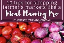 Groceries & Planning / A board for grocery shopping tips, food planning, meal planning, meal planning on a budget, meal budgeting, tips for grocery shopping, reducing food waste and getting your busy family organized, and on-budget with cooking your family meals!