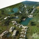 Zalacsány masterplan / Masterplan for Zala Springs Golf Resort: clubhouse, apartments, lake etc.